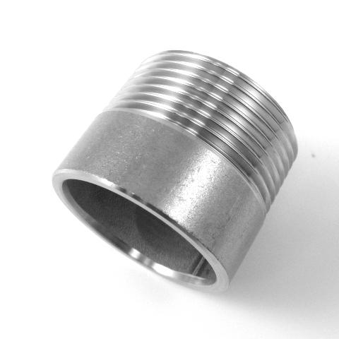 TRONCHETTO INOX AISI 304 FILETTATO GAS-574