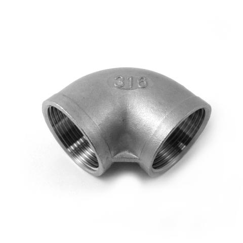 GOMITO A 90° FEM. FEM. INOX AISI 316 FILETTATO GAS-0