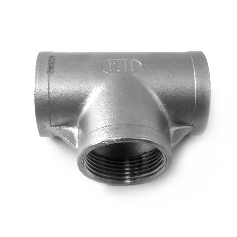 TEE FEMMINA INOX AISI 316 FILETTATO GAS-0
