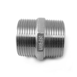 NIPPLO ESAGONALE INOX AISI 316 FILETTATO GAS-0