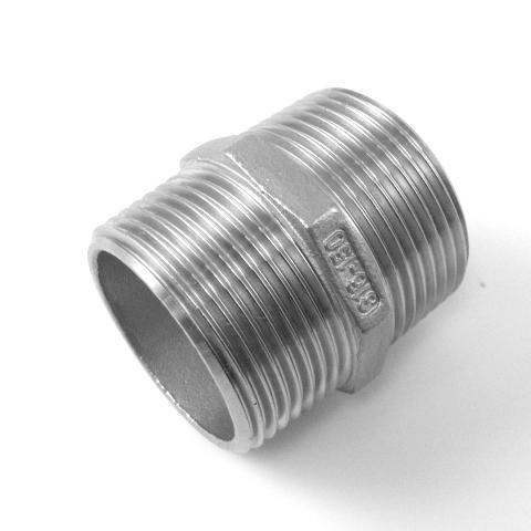NIPPLO ESAGONALE INOX AISI 316 FILETTATO GAS-584