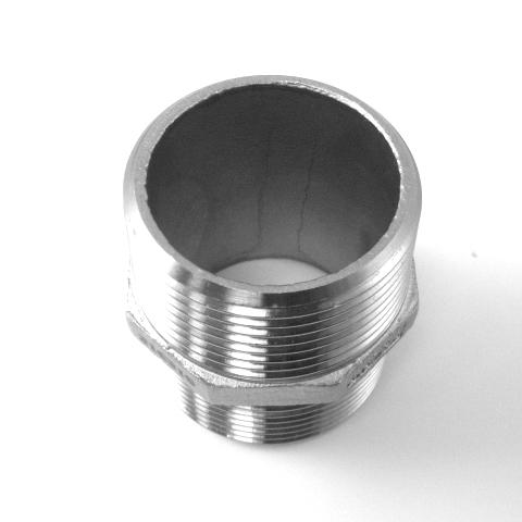 NIPPLO ESAGONALE INOX AISI 316 FILETTATO GAS-585