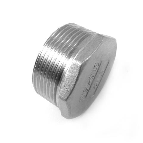 TAPPO MASC. TESTA ESAGONALE INOX AISI 316 FIL.GAS-0