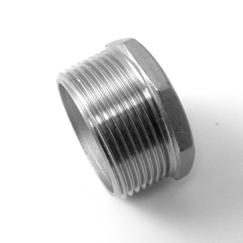 TAPPO MASC. TESTA ESAGONALE INOX AISI 316 FIL.GAS-587
