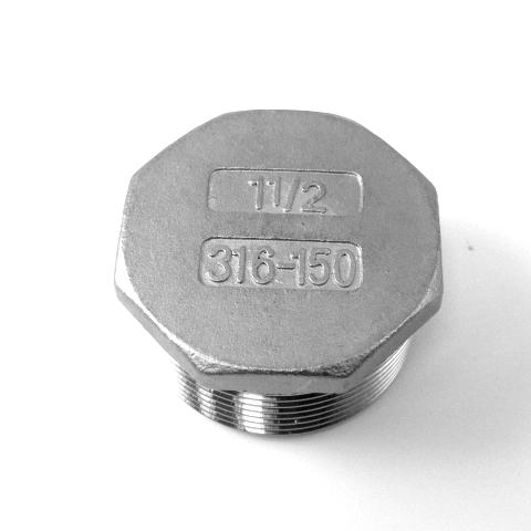 TAPPO MASC. TESTA ESAGONALE INOX AISI 316 FIL.GAS-588