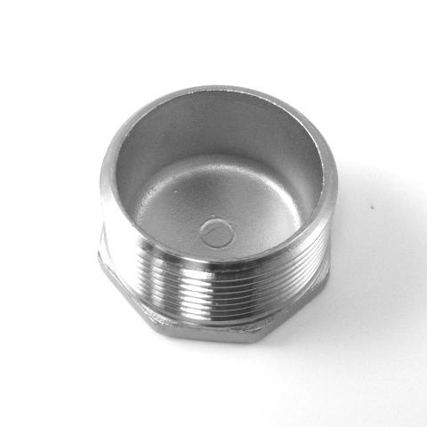 TAPPO MASC. TESTA ESAGONALE INOX AISI 316 FIL.GAS-589