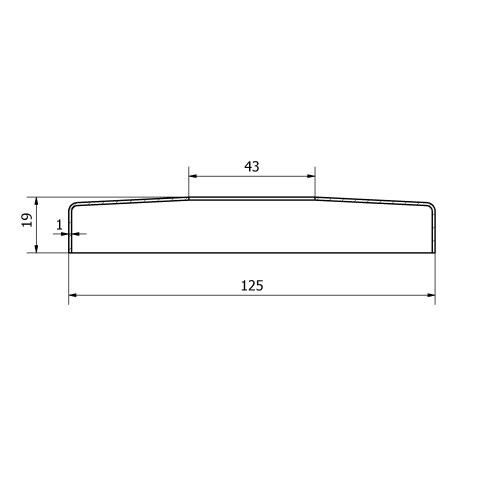 Copripiastra da 125 mm. inox per piastra da 42,4