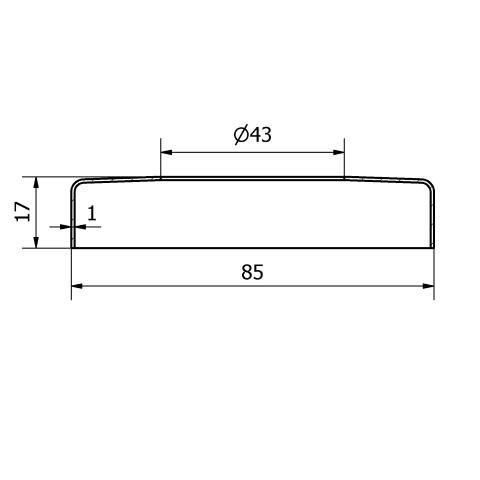 Copripiastra da 85 mm. inox per piastra da 42,4