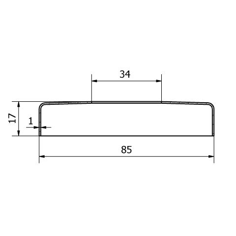 Copripiastra da 85 mm. inox per piastra da 33,7