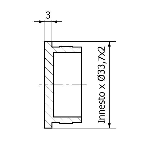 Tappo piatto inox per tubo da 33,7x2