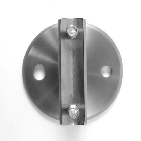 PIASTRA LATERALE Ø 100 x 33,7 mm. AISI 304 SATINATO-1102