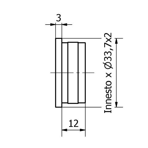 TAPPO PIATTO PER TUBO Ø 33,7 x 2,0 AISI 304 SATINATO-9488