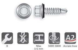 Vite Bimetallo autoperforante per cuciture inox