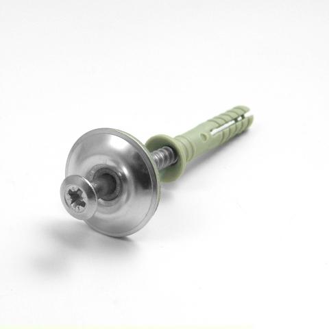 Tassello Nylon 6 + Vite Goccia di Sego A2 3,8 + Rondella-2046