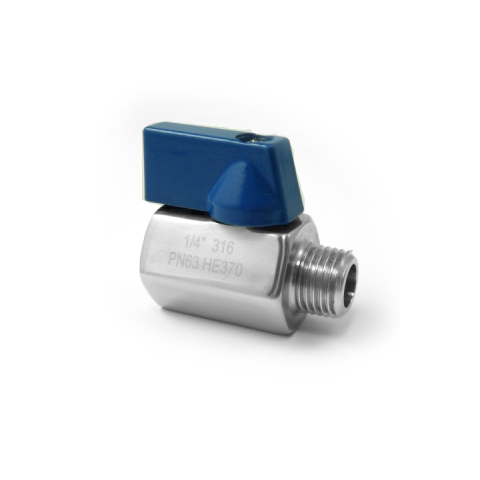 VALVOLA INOX AISI 316 MONOBLOCCO MAS.FEM. FILETTATO GAS-0