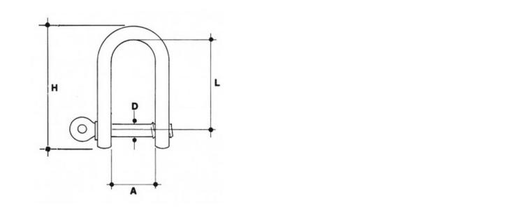 Grilli diritti in acciaio inox AISI 316 per fune