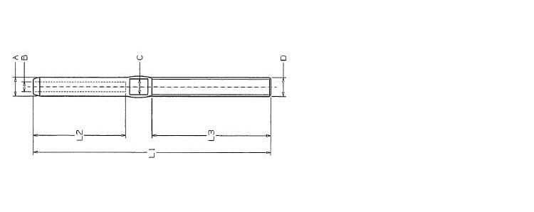 filettatura esterna inox AISI 316 a pressare