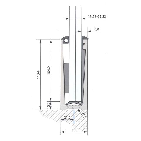 SIMPLY-GLASS SUPER LIGHT 0,5 kN/m. a Pavimento L.3,0 Mt.-9379