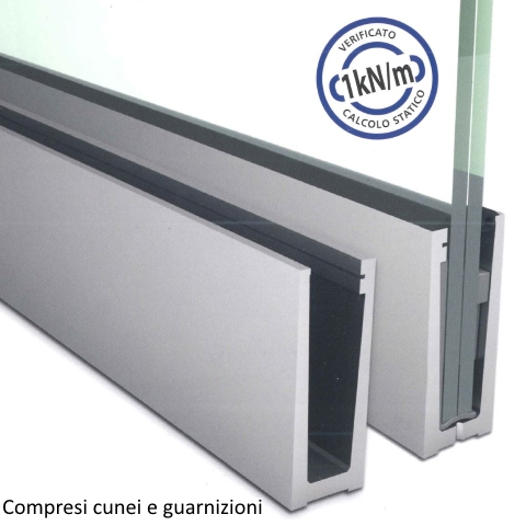 SIMPLY-GLASS LIGHT 1,0 kN/m. a Pavimento L.3,0 Mt.-0