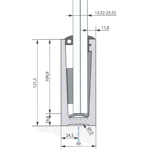 SIMPLY-GLASS LIGHT 1,0 kN/m. a Pavimento L.3,0 Mt.-9405