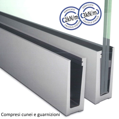 SIMPLY-GLASS PRO 3,0 kN/m. a Pavimento L.3,0 Mt.-0