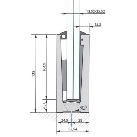 SIMPLY-GLASS PRO 3,0 kN/m. a Pavimento L.3,0 Mt.-9407