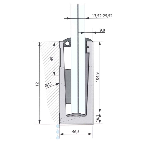 SIMPLY-GLASS LIGHT 1,0 kN/m. Laterale L.3,0 Mt.-9411