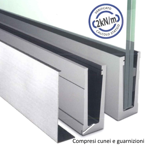 SIMPLY-GLASS BASIC 2,0 kN/m. Laterale L.3,0 Mt.-0