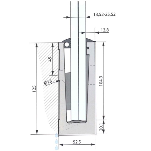SIMPLY-GLASS BASIC 2,0 kN/m. Laterale L.3,0 Mt.-9414