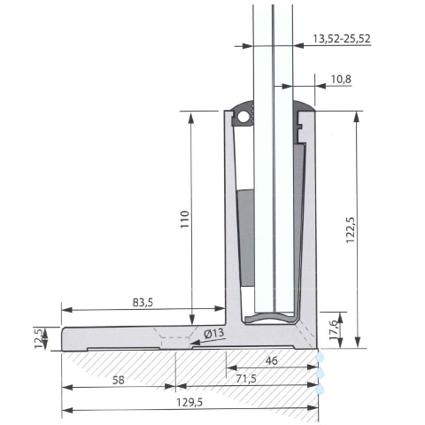SIMPLY-GLASS LIGHT 1,0 kN/m. Profilo a L L.3,0 Mt.-9417