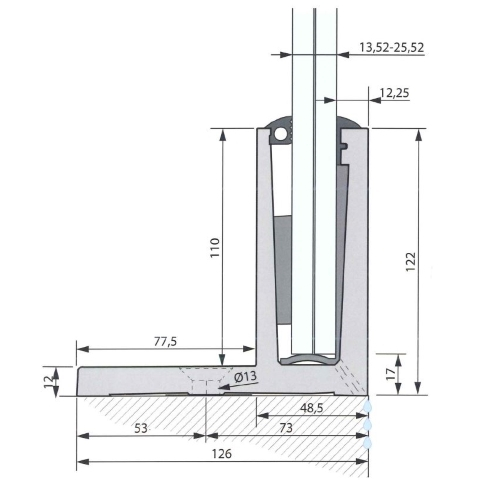SIMPLY-GLASS BASIC 2,0 kN/m. Profilo a L L.3,0 Mt.-9422