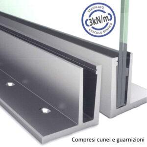SIMPLY-GLASS PRO 3,0 kN/m. Profilo a L L.3,0 Mt.-0