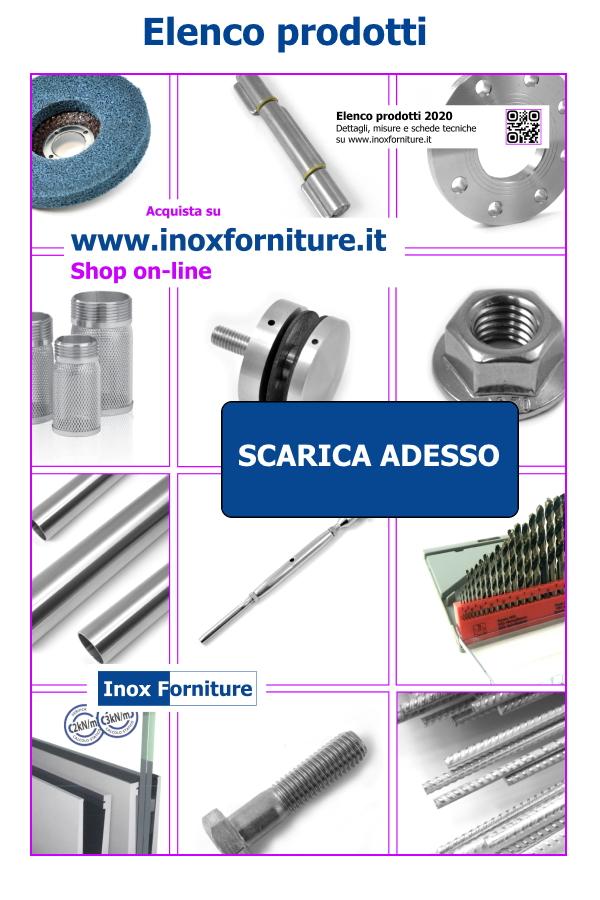 Elenco prodotti Inox forniture. Valido strumento per una rapida consultazione